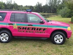The Palm Beach County (Fla.) Sheriff s Office s pink Ford Explorer