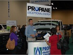The Propane Energy Research Council (PERC) had a booth at the show