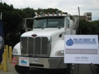 This Peterbilt truck shown at the signing event runs on biodiesel.