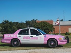 The Dothan Police Department in Alabama unveiled this bubblegum pink