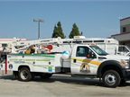 The city has seven propane-autogas Ford F-550 trucks that are used in
