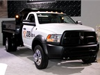 Chrysler had a display for its new Ram Commercial Truck division. The company had this Ram 5500 on display.