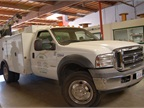 MME has a small fleet of service trucks, including this Ford F-550