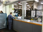 Here is the parts department and service counter.