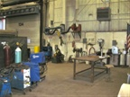 This is Equipment Services  welding shop.
