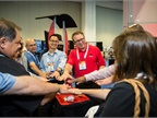 Magician Scott Tokar impressed attendees with card tricks at the GPS