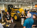 Caterpillar s M-series motor grader was on the show floor, along with