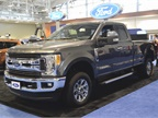 Ford displayed its 2017 F-250 in addition to smaller vehicles on the