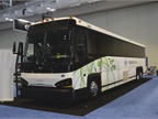 This MCI bus is powered by compressed natural gas (CNG).
