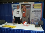 The Meineke and Maaco booth.