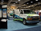 A natural gas powered van in the NGVAmerica booth.