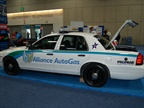 A propane-fueled patrol car in Alliance Autogas  booth.