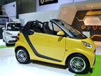 The smart brand brought its fortwo electric drive. The electric drive