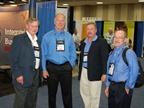 Tom Johnson, Mike Hajek, Doug Weichman, and Rick Teebay at GFX. (Photo