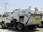 This Tymco sweeper is powered with compressed natural gas (CNG).