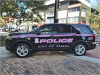 Pink vehicle graphics were sponsord by the Tampa Police Department s
