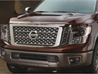 The exterior of the truck features LED headlights and tailights,