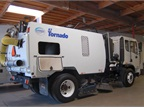 Pictured is a Schwatze regnerative air street sweeper, the A7 Tornado.