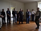 A deputy took attendees on a tour of the mansion after the meeting.