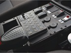 The center console houses controls from Whelan for lights and radio.