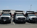 The city received four new Ford F-450 trucks for the Streets Division.