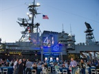 The second day's evening reception was held on the deck of the