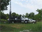 Dig for Water The Minnesota DNR's drill rig is used for