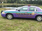 Palm Beach County (Fla.) Sheriff s Office has a purple 2003 Ford Crown