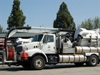 This vacuum truck is used by Public Works.