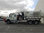 This vactor truck is one of three trucks used by the Sewer Division of