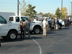 Attendees has a chance to speak with alternative-fuel vehicle