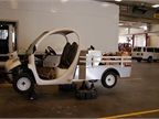 This GEM cart is one of 20 used by facilities employees to get around