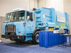 Attendees could also check out a refuse truck in the exhibit space.