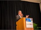 Baseball all-star Steve Garvey delivers a keynote address about