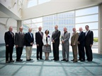 The 10 Public Fleet Hall of Fame inductees pose for a photo after the