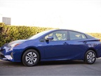 The Prius is slightly shorter (178.7 inches), wider, and lower than