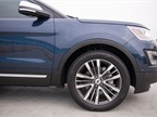 Several new 20-inch aluminum wheels are available on Explorer XLT and