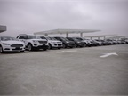 The top floor of the building is reserved for fleet vehicles and