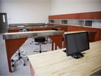 The fleet s training room was repurposed using equipment from its
