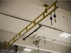 A fall protection system allows technicians to work on larger