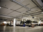 The fleet has 32 service bays, which means each technician has two to