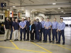 Pictured are fleet staff who work at the new facility, including the