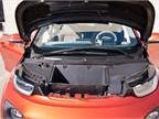 A front compartment allows the driver stow the charging cable while