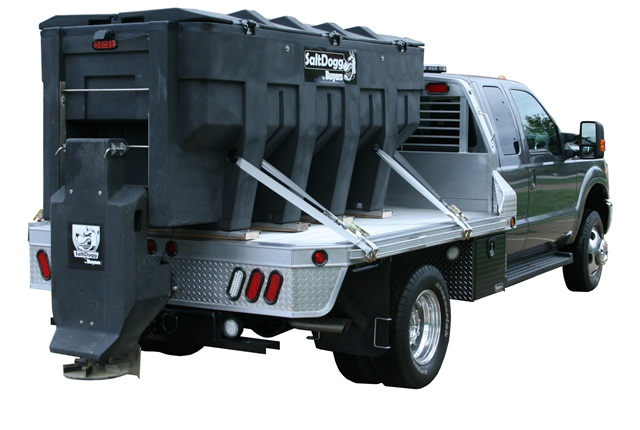 <p>Buyers Products poly electric SaltDogg spreader. (PHOTO: Buyers)</p>