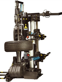 <p>The new <em>John Bean</em> Dual Bead Breaking Tire Changer is leverless, which prevents tire bead and sidewall damage.</p>