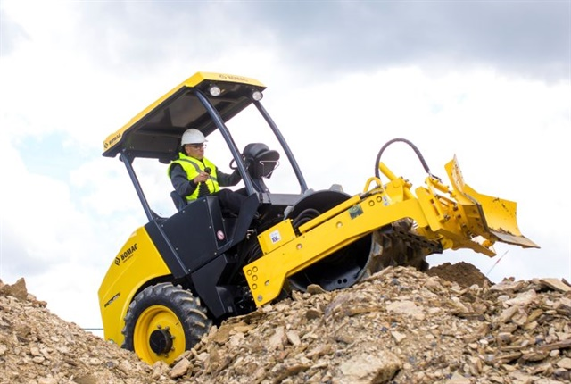 <p><em>Photo of BOMAG's compact BW 124-5 single drum vibratory roller courtesy of BOMAG</em></p>