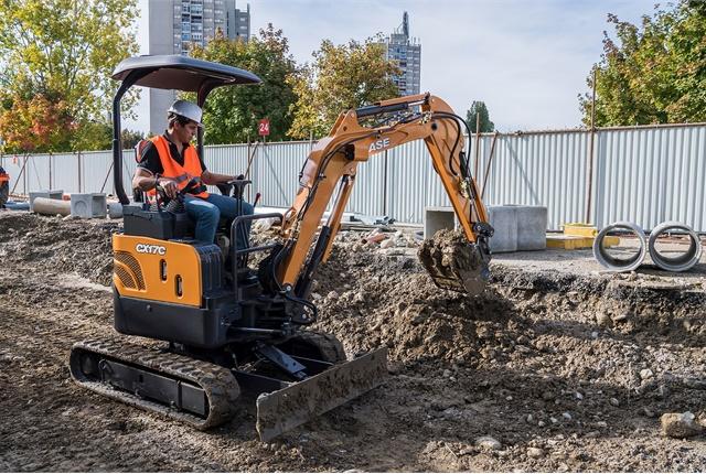 <p>Pictured is the Case CX17C mini excavator.<em> Photo courtesy of Case</em></p>