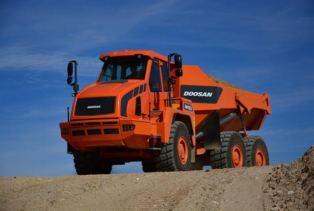 <p>The DA30-5 dump truck from Doosan. <em>Photo courtesy of Doosan.</em></p>