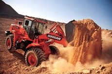 <p>The 4.8-cubic-yard DL350 has been re-engineered as a 271 hp iT4 wheel loader.</p>