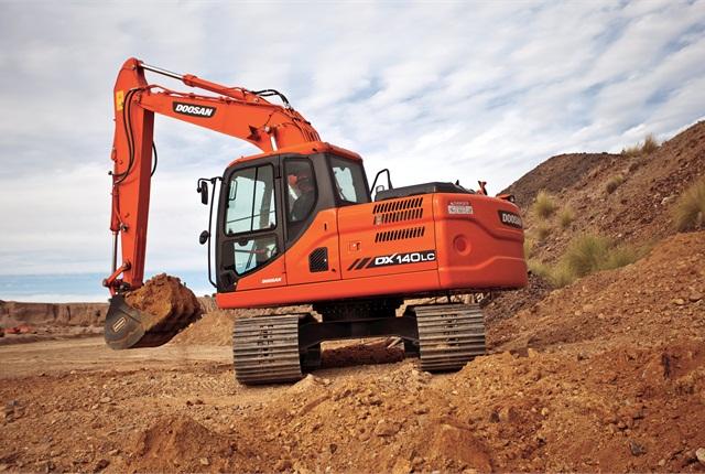 <p>Doosan DX140LC-3 excavator</p>
